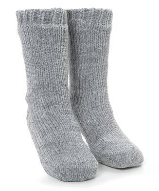 Anti-slip sokken Chenille, Grijs