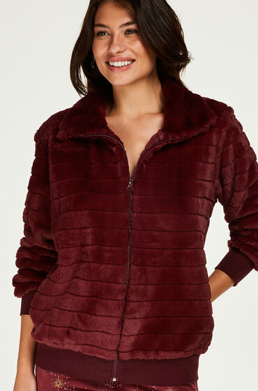 Hunkemöller Vest Fleece Fur Rood