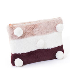 Clutch Fake Fur, Rood