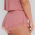 Short rib lace Mia HKM x NA-KD, Roze