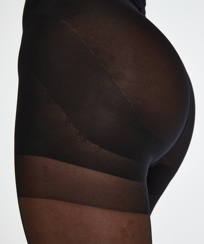 Push-up Panty 20 Denier, Zwart, main