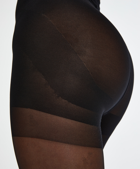 Push-up Panty 20 Denier, Zwart