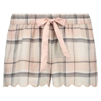 Pyjama short Check, Roze