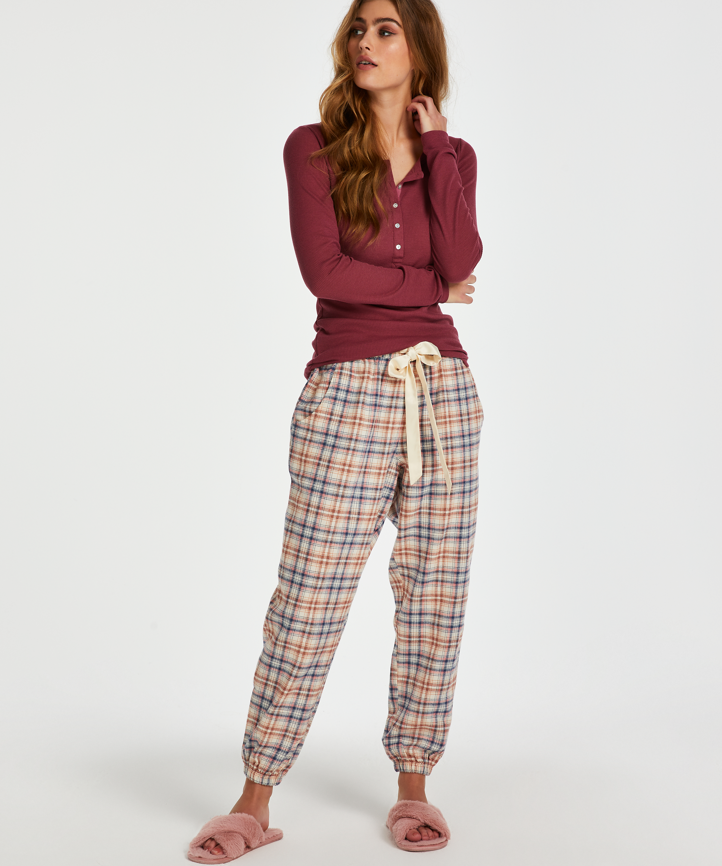 Pyjamatop lange mouwen, Rood, main