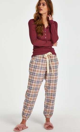 Pyjamatop lange mouwen, Rood