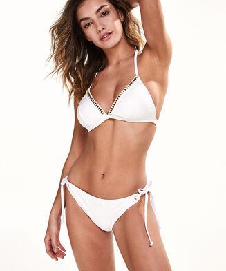 Tanga bikinibroekje White Lines, Wit
