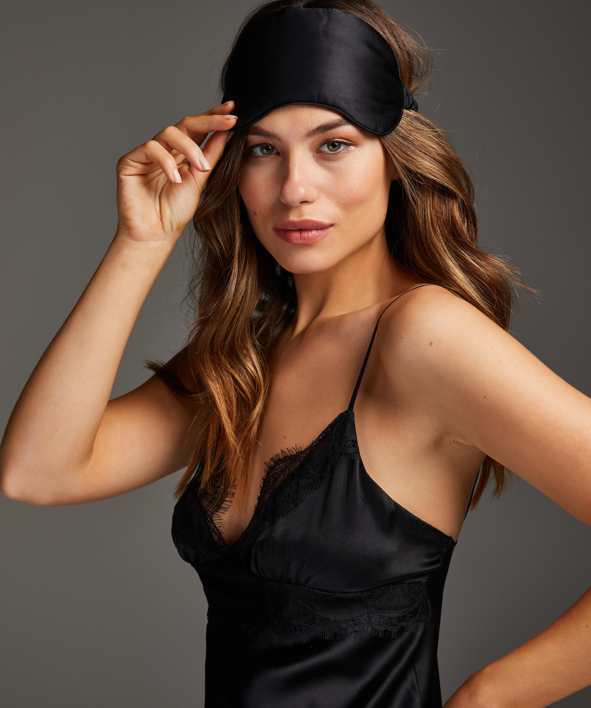 Slaapmasker zijde Noir, Zwart, main
