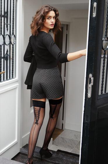 Hunkemoller Stay-up 20 Denier Pretty Lace Zwart