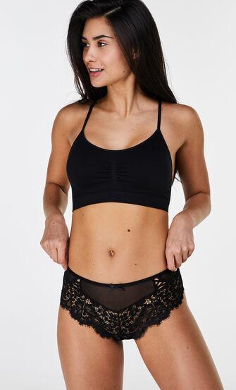 Naadloze Marina bralette lace back, Zwart