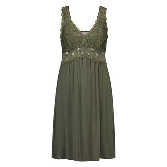 Slipdress Modal lace, Groen