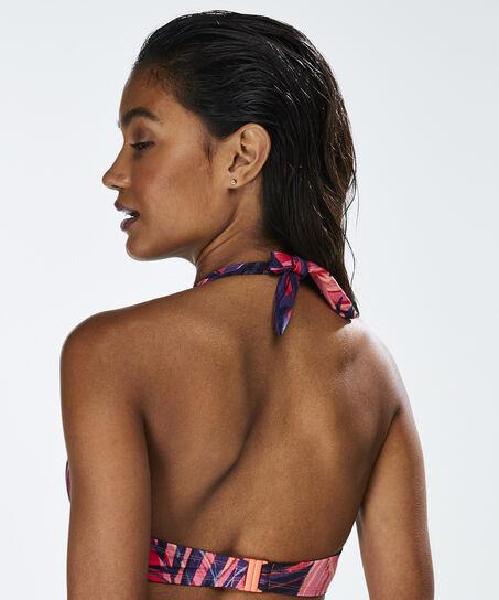 Voorgevormde push-up beugel bikinitop Queen Palm, Oranje