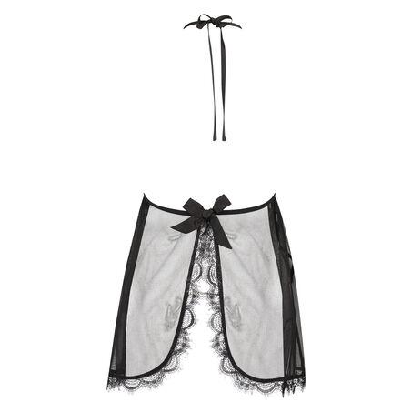 Baby doll Halter lace, Zwart