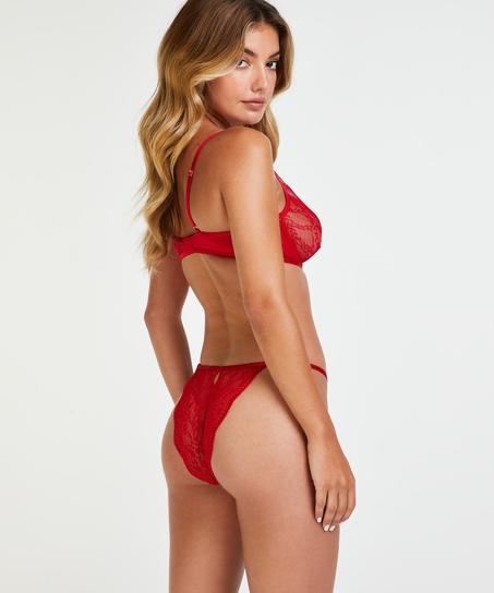 Niet-voorgevormde beugel bh Isabelle, Rood