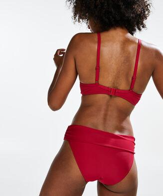 Fold over rio bikinibroekje Scallop Glam, Roze