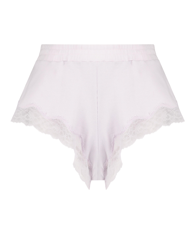 Short rib lace Mia, Paars, main