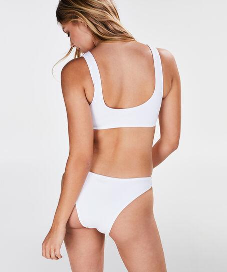 HKMX Laag cheeky bikinibroekje, Wit