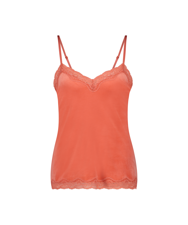 Cami Velours Lace, Oranje, main