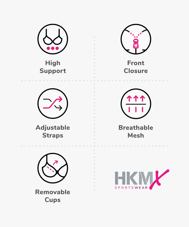 HKMX Sport bh The Pro Level 3, Zwart, main