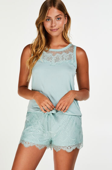 Hunkemöller Short Lace Blauw