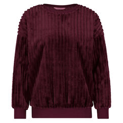 Top lange mouwen fleece, Rood