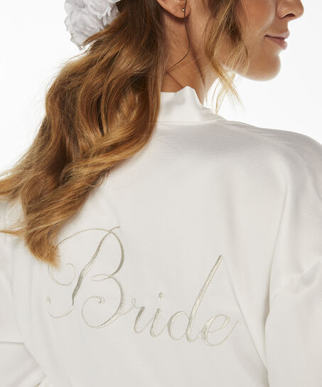 Kimono Satin Bridal, Wit