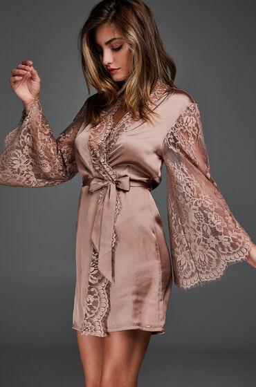 Hunkemöller Kimono satin lace Roze