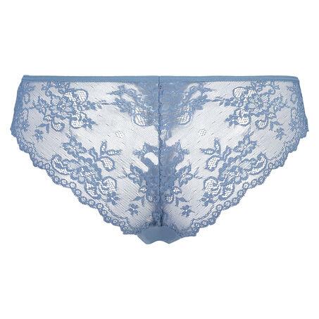 Invisible Brazilian Lace Back, Blauw