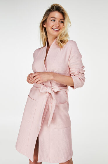 Van Hunkemöller Badjas Jersey Jacquard Roze Prijsvergelijk nu!