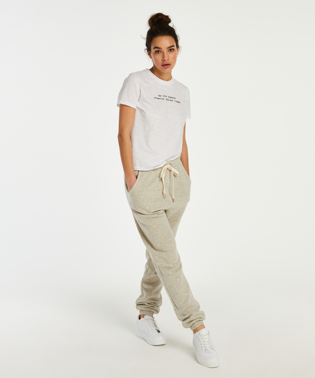 Pyjamatop korte mouwen Jersey, Wit