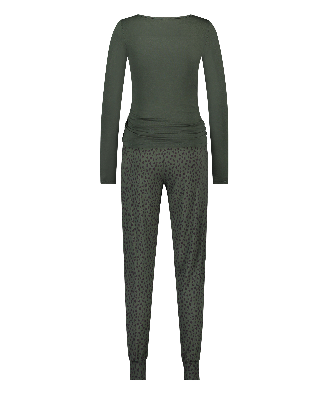Pyjamaset Lace Dot Leopard, Groen, main