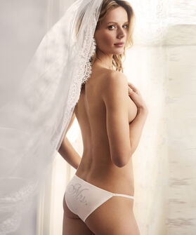 Tanga Slip Mrs. Bridal, Wit