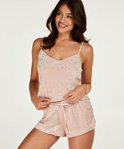 Shorts Velours Ster - Pink Ribbon, Roze