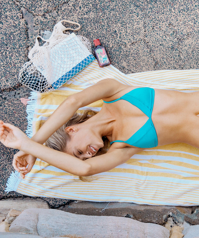 Triangle bikinitop Celine, Blauw, main