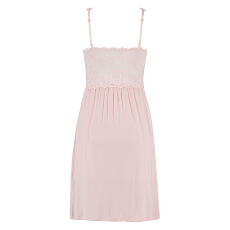 Slipdress Modal lace, Roze