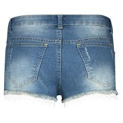 Jeans Short Kant, Blauw