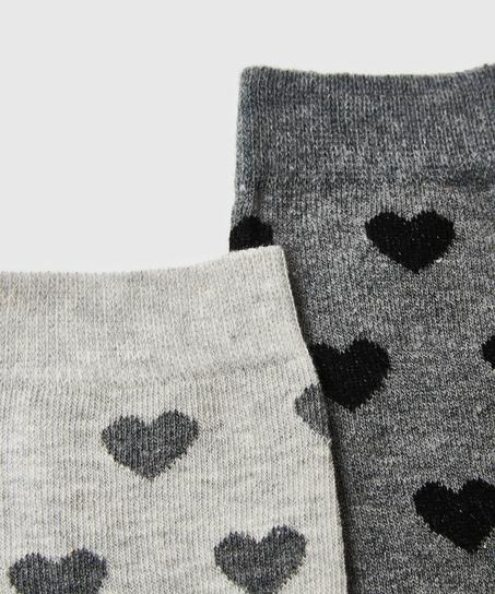 2 paar Katoenen Sokken, Grijs