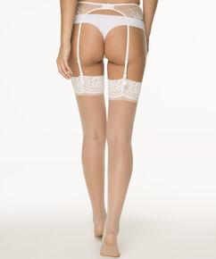 2 paar Stockings 15 Denier Lace, Huidskleur
