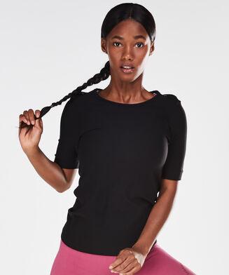 HKMX seamless sport t-shirt, Zwart
