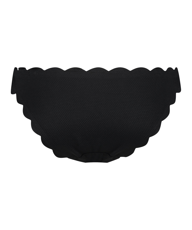 Laag rio bikinibroekje Scallop Glam, Zwart, main