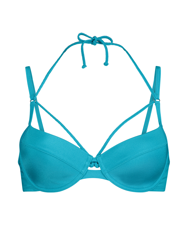 Voorgevormde beugel bikinitop Celine, Blauw, main