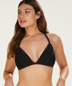 Triangle bikinitop Macrame, Zwart