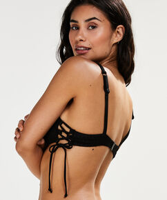 Bikini Croptop Tied Down, Zwart