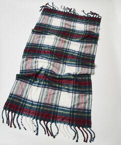 Sjaal deken ruitpatroon, Rood