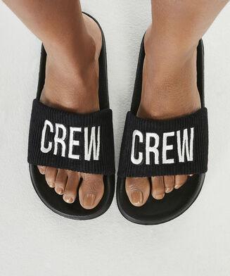 Slipper Crew, Zwart