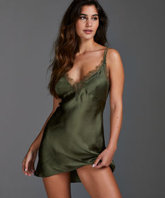 Slipdress satijn Lily, Groen