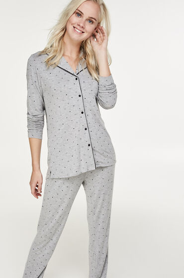 Hunkemöller Lange pyjama set Grijs