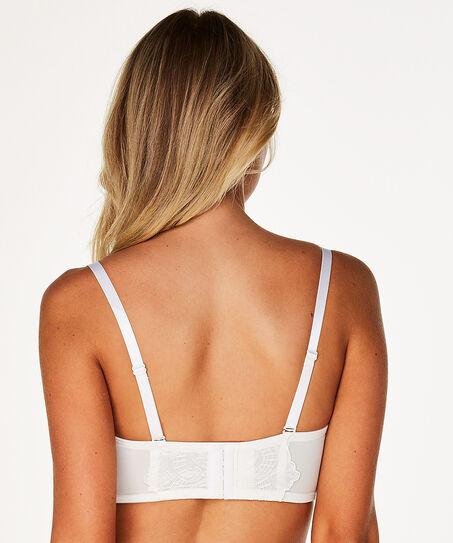 Voorgevormde strapless beugel bh Candice, Wit