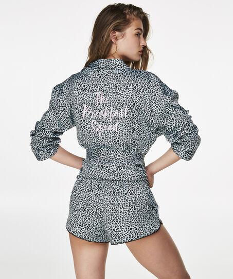 Pyjamashort Satin Print, Groen