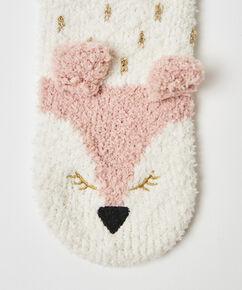 Cosy sokken vos, Wit