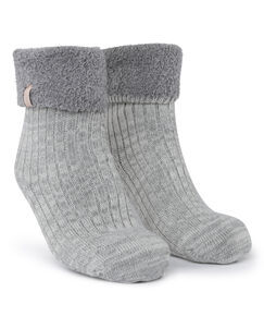 Image of Hunkemöller 1 paar Cosy rib sokken Grijs